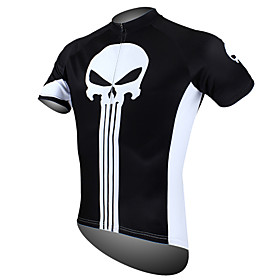 21Grams Men's Short Sleeve Cycling Jersey Polyester Yellow Red Blue Skull Bike Jersey Top Mountain Bike MTB Road Bike Cycling Breathable Qu