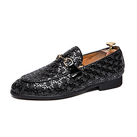Men's Loafers  Slip-Ons Formal Shoes Casual Daily PU Breathable White / Black / Red Fall
