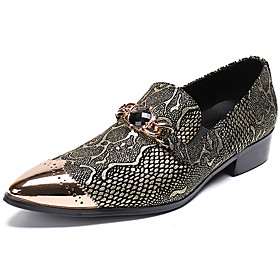 Men's Loafers  Slip-Ons Business / Casual / British Daily Party  Evening Cowhide Handmade Non-slipping Wear Proof Black Fall / Winter