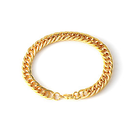 Men's Chain Bracelet Retro Stylish Creative Trendy Hyperbole Hip-Hop Steel Stainless Bracelet Jewelry Black / Gold / Silver For Street Club