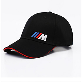 Men's Basic Polyester Baseball Cap-Solid Colored Black