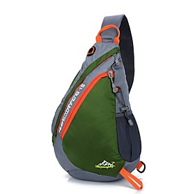 Men's Bags Nylon Sling Shoulder Bag Zipper for Daily / Outdoor Black / Blue / Red / Army Green