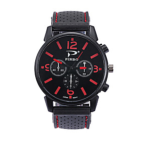 Men's Sport Watch Quartz Silicone Black Casual Watch Analog Fashion - Red Green Blue