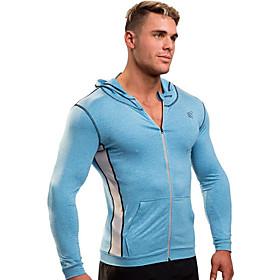 Men's Full Zip Track Jacket Hoodie Jacket Running Jacket Winter Active Training Fitness Jogging Breathable Moisture Wicking Soft Sportswear Jacket Top Long Sle