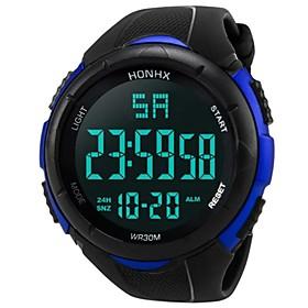 Men's Sport Watch Digital Watch Digital Bangle Water Resistant / Waterproof Digital White Black Blue / Two Years / Quilted PU Leather / Japanese / Calendar / d