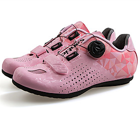 SANTIC Adults' Road Bike Shoes Breathable Anti-Slip Cushioning Cycling / Bike Cycling Shoes GrayWhite Purple Pink Women's Cycling Shoes / Ventilation / D-link