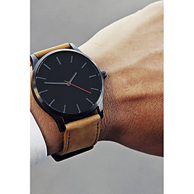 Men's Dress Watch Wrist Watch Quartz Classic Casual Watch Analog White / Brown Black Black / White / One Year / Stainless Steel / Leather / SSUO 377
