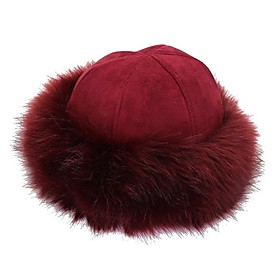 Women's Basic Polyester Bowler / Cloche Hat-Solid Colored Winter Navy Blue Gray Wine
