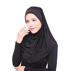 Women's Basic Rayon Hijab - Solid Colored Layered / All Seasons