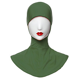 Women's Basic Polyester Hijab - Solid Colored Split / All Seasons