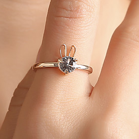Ring Hollow Champagne Gold Silver Copper Rhinestone Rabbit Ladies Personalized Unique Design 1pc Adjustable / Women's / Tail Ring