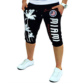 Active / Basic Daily Sports Loose / Active / Chinos wfh Sweatpants - Letter Print Red Blue Light gray L XL XXL