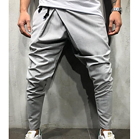 Stay Cation Men's Exaggerated Daily wfh Sweatpants Pants - Solid Colored Black Army Green Dark Gray M L XL