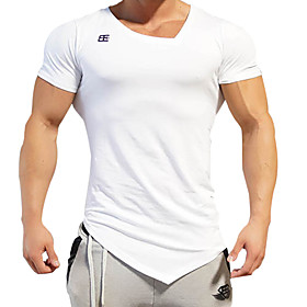 Men's Basic Running Base Layer V Neck Workout Quick Dry Compression Sportswear Top Activewear Micro-elastic