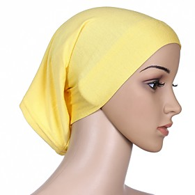 Women's Basic Cotton Hijab - Solid Colored Mesh / All Seasons