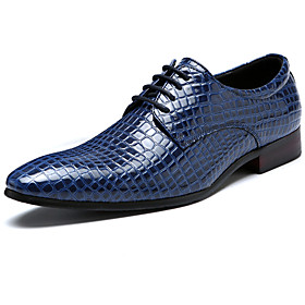 Men's Formal Shoes Patent Leather Spring   Fall Casual / British Oxfords Non-slipping Black / Wine / Blue / Party  Evening / Party  Evening / Comfort Shoes