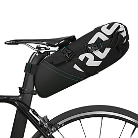ROSWHEEL 8/10 L Bike Saddle Bag Reflective Adjustable Large Capacity Bike Bag Leather Polyester Bicycle Bag Cycle Bag Cycling Bike / Bicycle