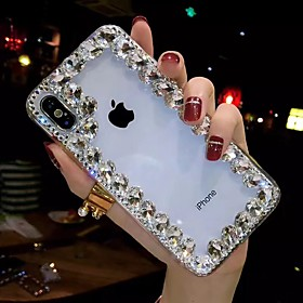 Phone Case For Apple iPhone XS Max / iPhone XR / iPhone X / iPhone 8 / iPhone XS / iPhone 8 Plus / iPhone 7 / iPhone 7 Plus / iPhone 6s / 6 / iPhone 6s Plus / What's in the box:Case1; Type:Back Cover; Material:TPU; Compatibility:Apple; Pattern:Rhinestone; Hard / Soft:Soft; Features:DIY,Transparent,Rhinestone; Customization:iPhone XS Max,iPhone XR; Net Weight:0.03; Listing Date:02/27/2019; Phone/Tablet Compatible Model:iPhone XS,iPhone 6,iPhone 6 Plus,iPhone 6s,iPhone 6s Plus,iPhone 7,iPhone 7 Plus,iPhone X,iPhone 8 Plus,iPhone XS Max,iPhone 8,iPhone XR