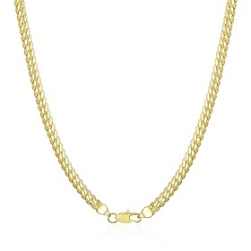 Men's Chains Classic Mariner Chain Simple Classic Basic Copper Gold Plated Gold 50 cm Necklace Jewelry 1pc For Daily Work