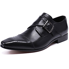 Men's Oxfords Business / Casual / British Daily Party  Evening Cowhide Handmade Non-slipping Wear Proof Black / Brown Fall / Winter