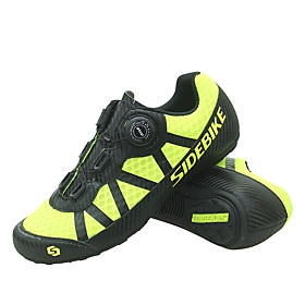 SIDEBIKE Adults' Bike Shoes Breathable Anti-Slip Mountain Bike MTB Road Cycling Cycling / Bike Yellow Men's Women's Cycling Shoes