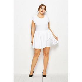 Women's Plus Size Basic White Black Wide Leg Romper Onesie, Solid Colored L XL XXL