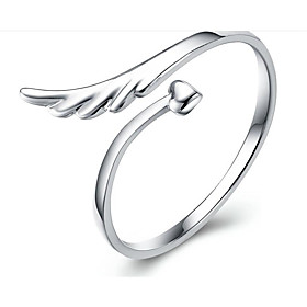 Men Ring Classic Silver S925 Sterling Silver Wings Fashion 1pc Adjustable / Women's