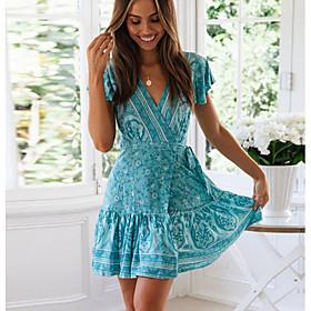 Women's A Line Dress Blue M L XL