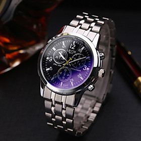 Men's Dress Watch Wrist Watch Quartz Casual Casual Watch Analog Black / One Year / Stainless Steel