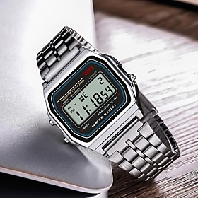 Men's Sport Watch Digital Silver Casual Watch Digital Casual - Silver / Stainless Steel