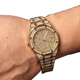 Men's Dress Watch Quartz Luxury Chronograph Analog Rose Gold Gold Silver / Two Years / Stainless Steel / Japanese / Imitation Diamond / Japanese