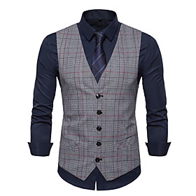 Men's V Neck Vest Light gray / Dark Gray / Brown S / M / L / Slim