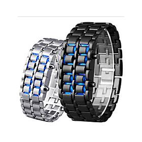 Men's Digital Watch Digital Outdoor Water Resistant / Waterproof Digital Black Red Blue / Stainless Steel / LCD