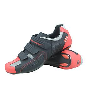 SIDEBIKE Adults' Bike Shoes Anti-Slip Ventilation Ultra Light (UL) Road Cycling Cycling / Bike Black / Red Men's Women's Cycling Shoes
