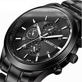 Men's Sport Watch Dress Watch Wrist Watch Quartz Luxury Creative Analog White Black Red / One Year / Stainless Steel