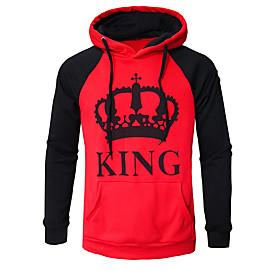 Men's Hoodie Cartoon Letter Hooded Casual Streetwear Hoodies Sweatshirts  Loose Red Light gray