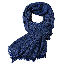 Men's Basic Rectangle Scarf - Solid Colored