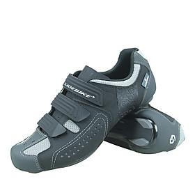 SIDEBIKE Adults' Bike Shoes Nylon Anti-Slip Ventilation Ultra Light (UL) Road Cycling Cycling / Bike Grey Men's Women's Unisex Cycling Shoes / Reflective Strip