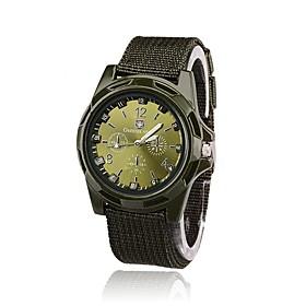 Men's Military Watch Wrist Watch field watch Quartz Vintage Casual Watch Analog - Digital Black Blue Green / One Year / Nylon