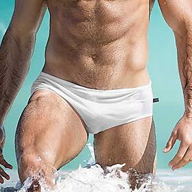 Men's Bottoms Swimsuit Solid Colored Swimwear Bathing Suits Light Blue White Black Blue