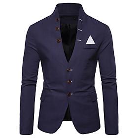 Men's Blazer Solid Colored White / Black / Red US32 / UK32 / EU40 / US34 / UK34 / EU42 / US36 / UK36 / EU44