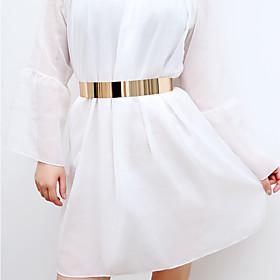 Women's Basic Alloy Waist Belt - Solid Colored