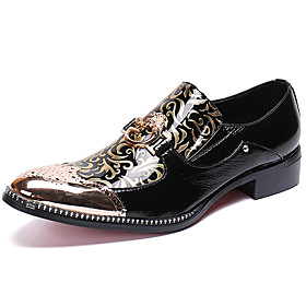 Men's Oxfords Business / Casual / British Daily Party  Evening Cowhide Handmade Non-slipping Wear Proof Black Fall / Winter