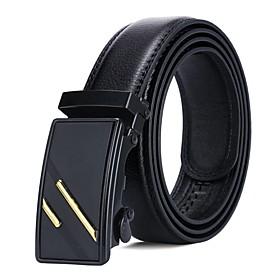 Men's Work / Basic Leather Waist Belt - Color Block
