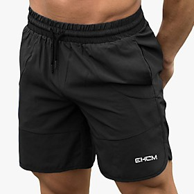 Men's Basic Shorts Pants Solid Colored Black Red Green M L XL