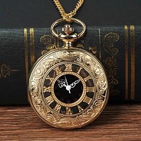 Men's Pocket Watch Quartz Fashion Casual Watch Analog Golden / Large Dial
