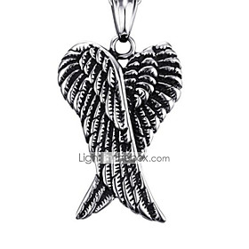 Men's Pendant Necklace Classic Angel Fashion Stainless Steel Silver 50 cm Necklace Jewelry 1pc For Gift Daily