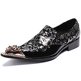 Men's Oxfords Business / Casual / British Daily Party  Evening Cowhide Handmade Non-slipping Wear Proof Black / Dark Green Fall / Winter
