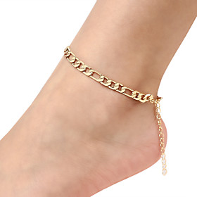 Ankle Bracelet feet jewelry Simple Classic Vintage Women's Body Jewelry For Carnival Holiday Figaro Alloy Gold Silver 1pc