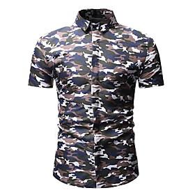 Men's Camo / Camouflage Polo Shirt Collar Rainbow